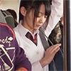 【満員電車JKぶっかけ】満員電車で汚れを知らない女子校生の身体にぶっかけ!