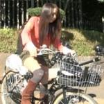 【潮吹きアクメ自転車】アクメ自転車で街中サイクリング⇒耐え切れず潮吹き!