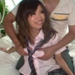 【素人女子高生中出し】上京したての極エロ変態女子高生と中出しファック♪